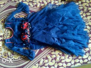 Rich blue gown for kids of age 3-4 yrs