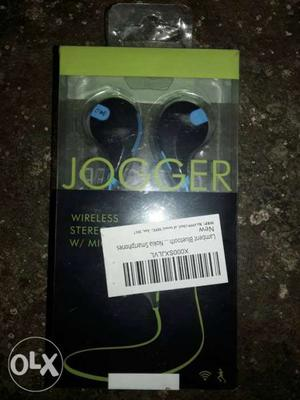 Black And Blue Jogger Wireless Headset Box