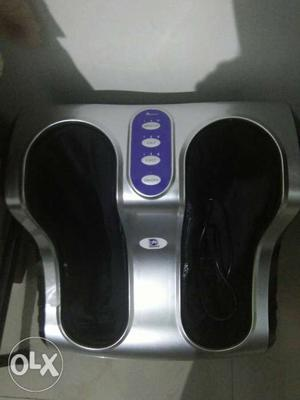 Black And Silver Foot Massager