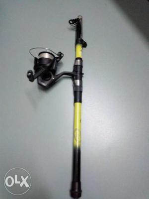 Fishing rod and reel caparlan rod, 8 feet,