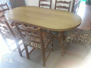 Pure teak wood 6 seater dinning table