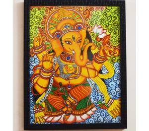 Hand Painted Ganesha Mural Bangalore