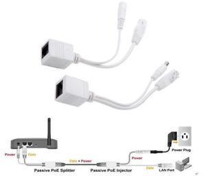 1 Pair power over Ethernet Passive POE Injector Splitter