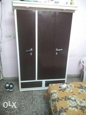 It is a three door solid iron almirah just 6