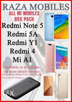 Redmi 5A|Redmi Note 5|Redmi Y1|A1
