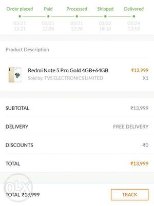 Seal pack redmi note 5 pro gold
