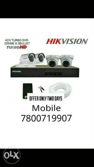 4HD Cctv CAMERA HIKVision System Complete System