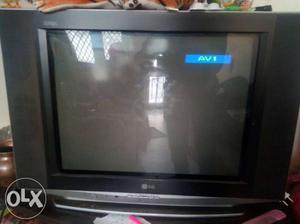 """LG 21"""" flat screen color TV."""