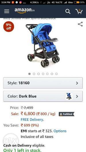 Blue And Black Graco Stroller Screenshot