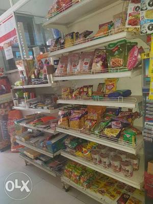 Super market shelves 6ft x 3 ft total 10 nos