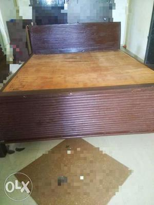 Teak wood double bed best quality: 6 feet X 5