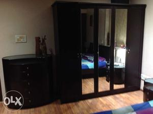 Wardrobe,chest Of Draws,king Size Bed With Two