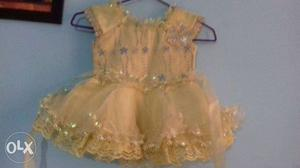 Beautiful yellow colour frock. only one time wear