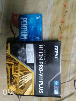BrandNew. Notused Motherboard, withthis get a cabinet free