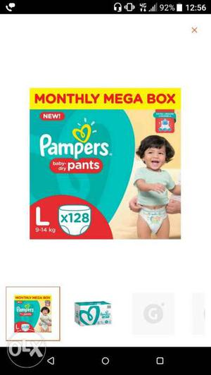 Size Large Pampers Baby Dry Pants Box