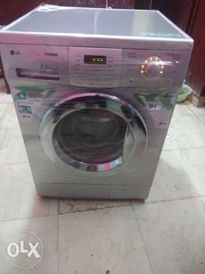 White And Gray Arcelik Front Load Washing Machine