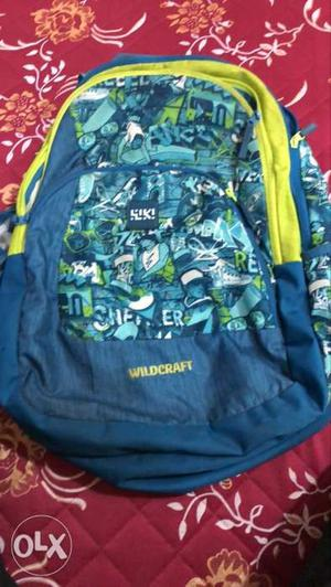 Wildcraft blue and green colour bag