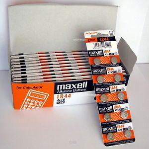 10 NEW Batteries Authentic CellsL R44 MAXELL A76 L AG13