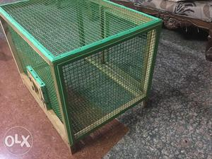 Bird cage. Newly made with pure teak wood.