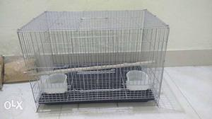 Its a 2 bird cage with 3 kg of food