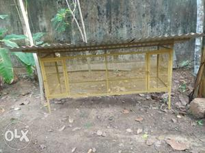 Yellow Steel Birdcage