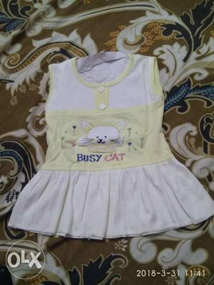 New dress for girls 0 size 1 to 8 months