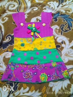 New dress for girls of 1to 6 months size 0