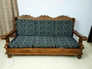 Teak wood sofa 5 years old good condition 3+1+1