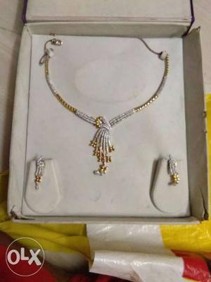 American diamond necklace and earing
