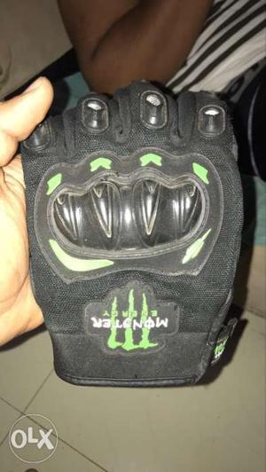 Black Monster Energy Bikers Glove