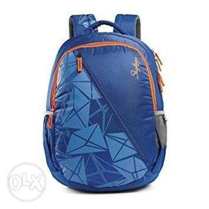 Blue And Orange College Backpack
