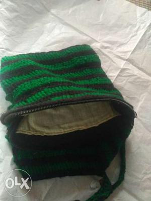 This is a home made bag which is hand made of