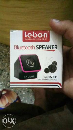 Black And Purple Lebon Bluetooth Speaker Box this is new one
