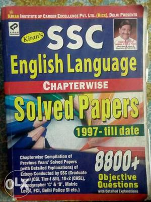 Book for English ssc tier 1 and tier 2 in very