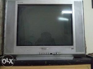 Gray samsung Widescreen CRT TV fst