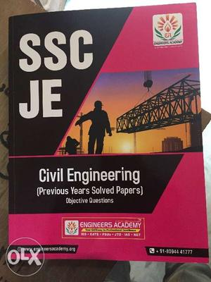 SSC JE Previous year Questions New Book