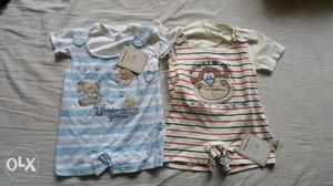 ToffyHouse Rompers. Set of two. Size: 6-9 months