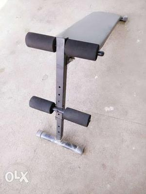 Black And Gray Inclined Bench