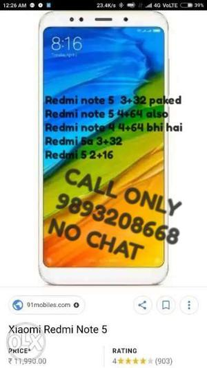 Redmi note 5 pro  also Note Note5