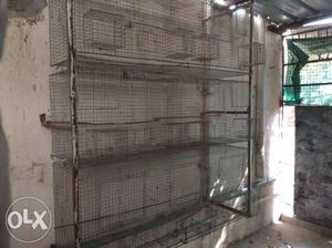 """1/2""""net 3 rack birdcages available. Size"""