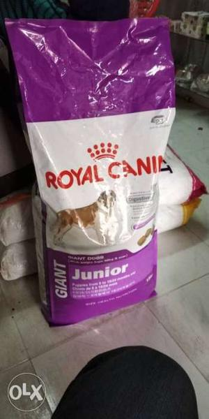 Dog food and items available