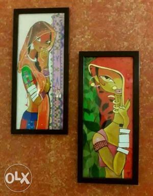 Rajasthani Women - Hand Painted (New)