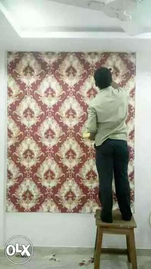 80rs per sqft wallpaper on home or office
