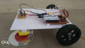 Arduino based floor cleaning using ultrasonic