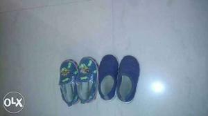 Two Pairs Of Blue Shoes