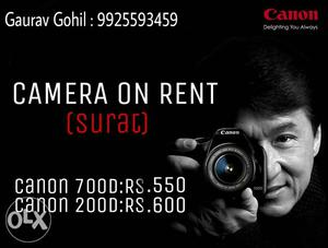 Camera on rent at lowest price