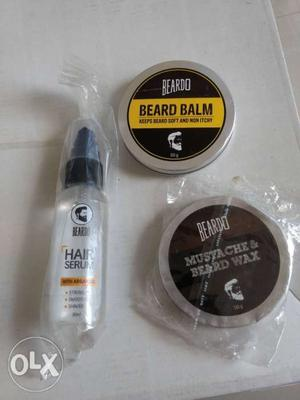 Combo of 2 UNUSED Beardo Hair Serum & Beardo Mustache and
