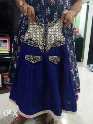 Girls party wear gown hardly wore it once urgent