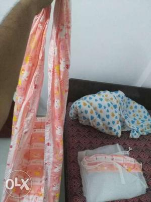 Baby Jhula with mosquito net for sale. Unused. 30