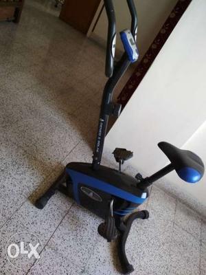 Blue And Black Stationary Bike